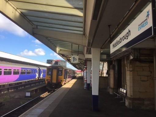 Middlesbrough Railway Station.