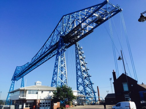 Middlesbrough's famous Transporter Bridge.