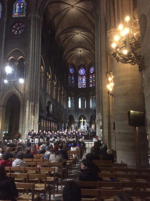 Paris:The Nave of Notre Dame.