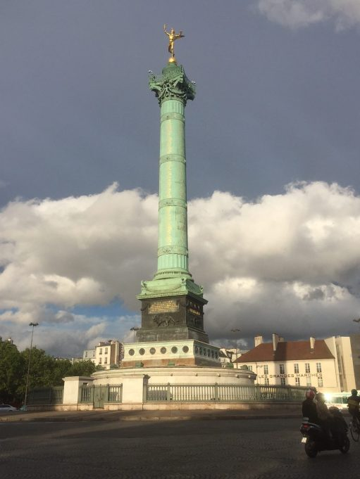 Paris: Bastille Monument.
