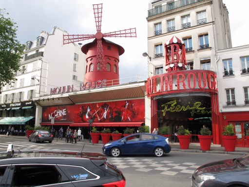 Paris: The Famous Moulin Rouge (Red Windmill). Home of the Can Can.