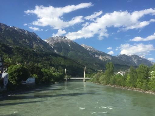 Austira: The River Inn in Innsbruck…a tributary to the Danube.