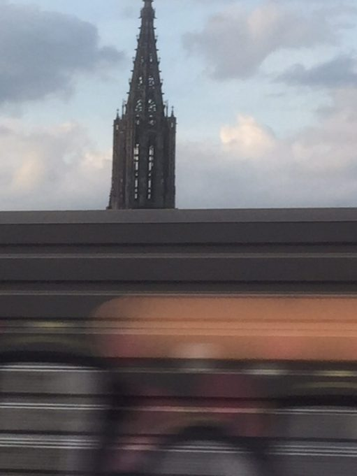 Paris to Munich: Ulm. The steeple of the minister from the train. Tallest in the world.