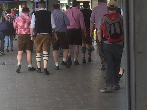 Paris to Munich: Lederhosen day out.