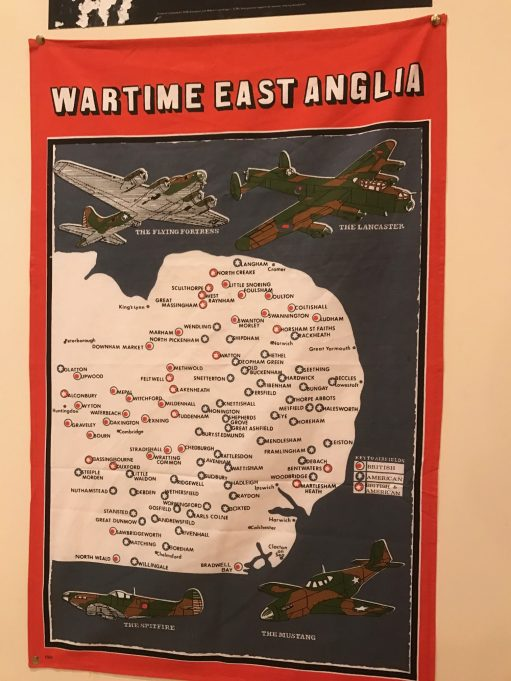 Suffolk: Bobby's Wartime East Anglia Tea Towel Map.