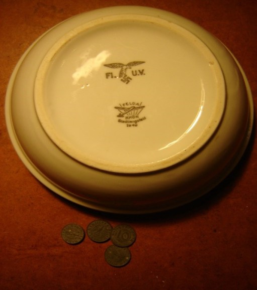 Ernie's War: Luftwaffe mess bowl that Ernie acquired.