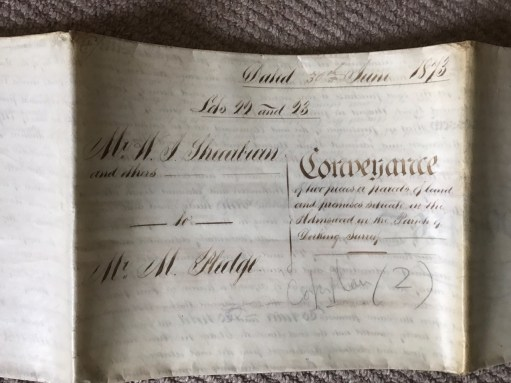 Laurel Cottage: How on earth did the clerks handwrite those documents?