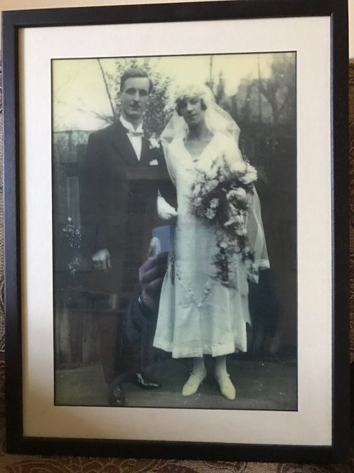 Laurel Cottage: Bobby's Mum and Dad. Wedding Day 1925.