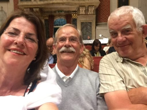 Venice: Bobby's selfie with the Dutch Couple. How ironic is that?