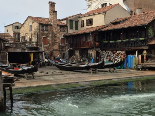 Venice: Mending your gondola.