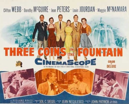 Alexis: Three Coins in the Fountain Cinema Poster.