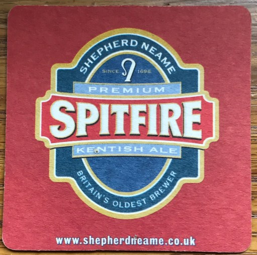 Spitfire: Premium Kentish Ale.