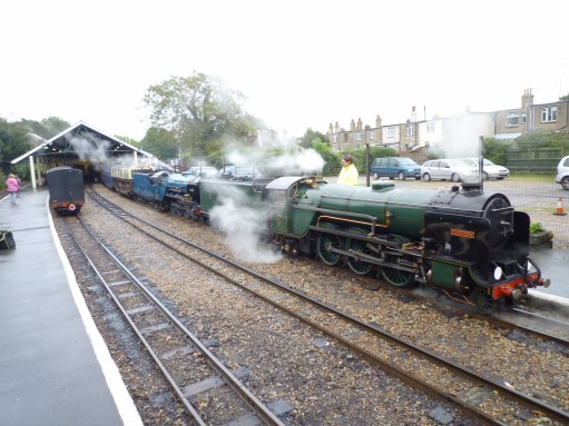 Oh Mr Porter - Lighting a Candle for Diddley: The Hythe Express… Double header (two engines).