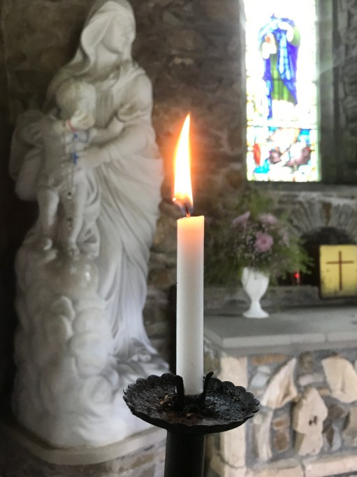 Brighton: Lightin a Candle for Diddly at St Nons.