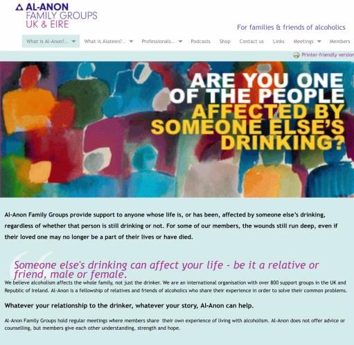 Diddley Tribute: Al-Anon website screenprint.