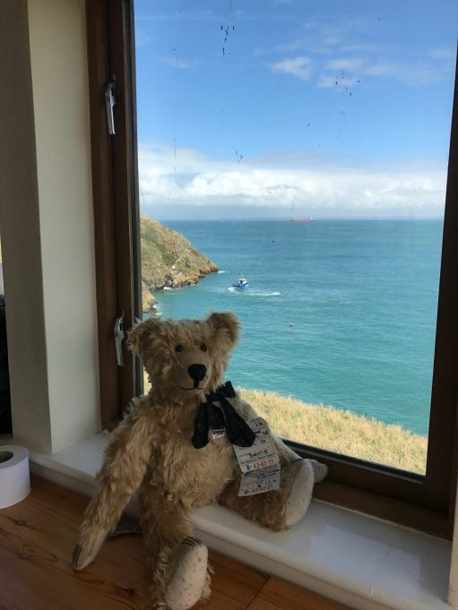 "Giselle Eagle: Me in the wardens' office. A ""room with a view""."