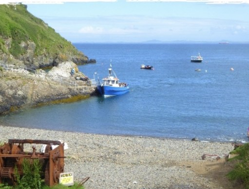 Giselle Eagle: Martins Haven, with the Dale Princess. The departure point and boat for Skokholm and Skomer islands.