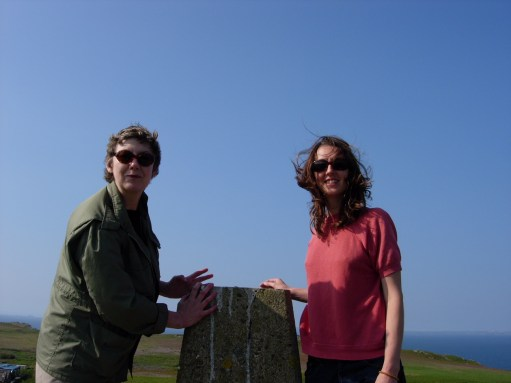 Amber: At the trig point. Highest part of the island, with a 360 degree view of the sea.