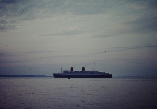 Queen Elizabeth... the Solent, off Gurnard
