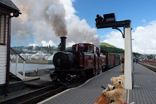 """Great Little Trains of Wales: One of the famous """"Double Farlie"""" locomotives."""