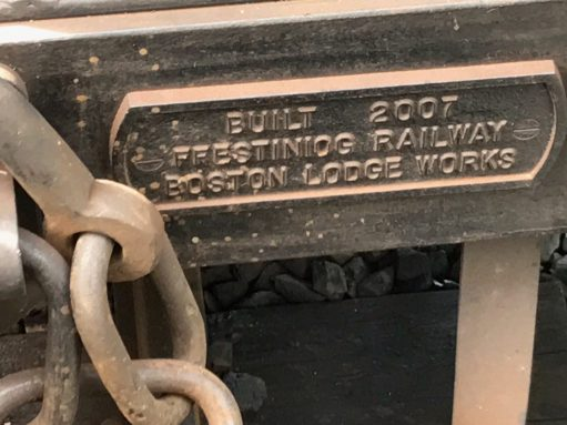 Great Littlet Trains of Wales: Our carriage may have looked old world restored but here you are. And I can now check spelling. Ffestiniog!