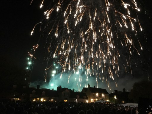 Great Success: The final blast of what is claimed to be the biggest firework display in the UK.