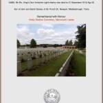 Remembrance of Private Evan Davies.