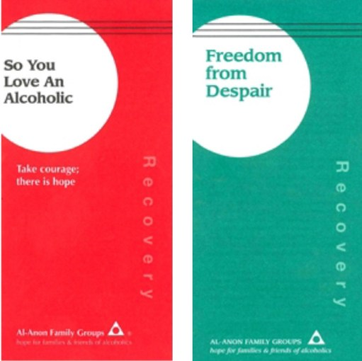 Small Talk Saves Lives: Two of the leaflets produced by Al Anon.