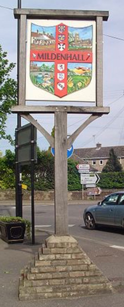I Died Today: East Anglia is famous for its very ornate village signs.