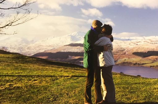 I Died Today: Wedding day, Loch Tay, Scotland, with Ben Laws in the background.