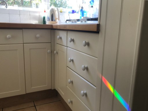 The Kitchen Window: You can just see the prism to the right of the tap.