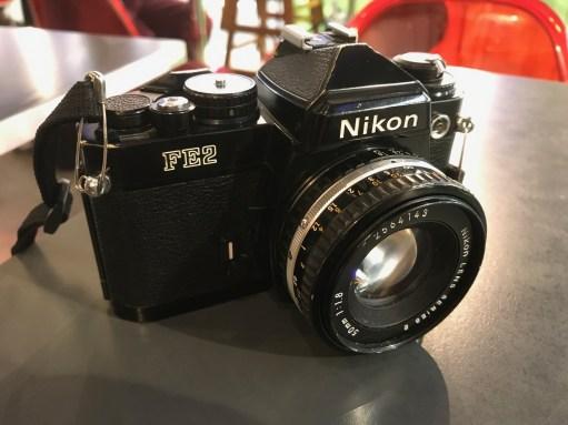 The Kitchen Window: Han A Lee's 1980s Nikon FE2 film camera.