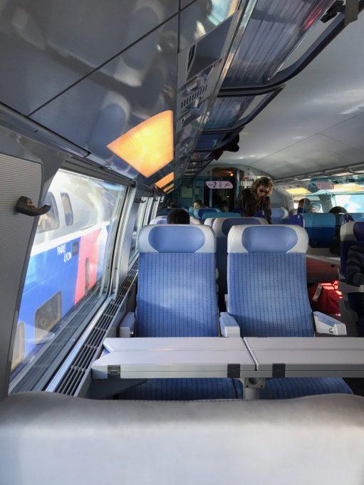 Salzburg: Double decker TGV. Upstairs.