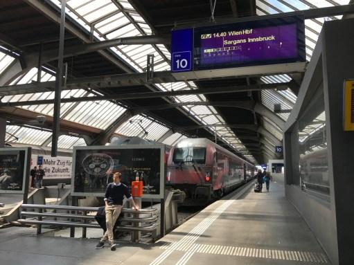 Salzburg: OBB at Zurich.