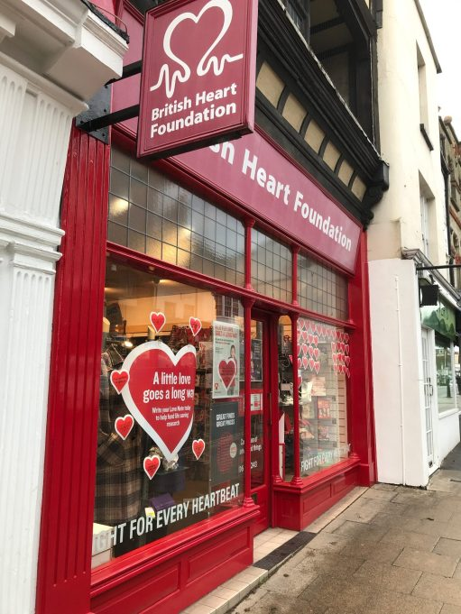 Salut d'Amour: British Heart Foundation, Dorking, Surrey.