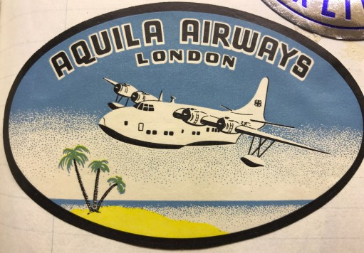 Trevor's Stickies: Aquila Airways, London. This is the best and the last…