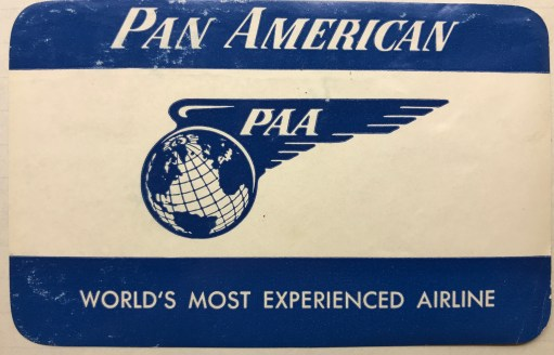 Trevor's Stickies: Pan American World Airlines. Later known as PanAm. Possible the most famous airline of all. Bankrupt and ceasing operations in 1991. A very long story.