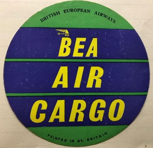 Trevor's Stickies: BEA Air Cargo.