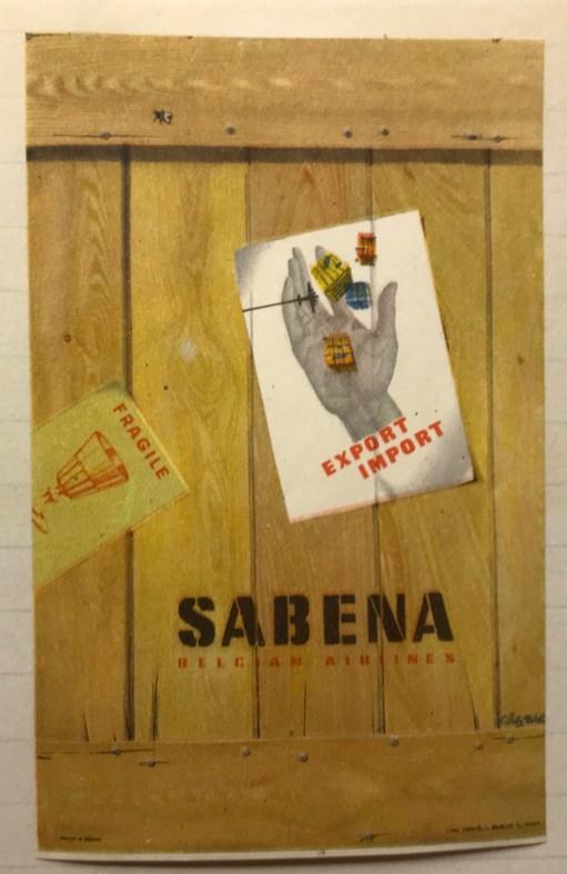 Trevor's Stickies: Export/Import Sabena Belgium Airlines.