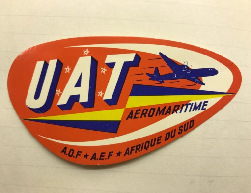 Trevor's Stickies: Union Aeromaritime de Transport. A short-lived French airline. 1949-1963.
