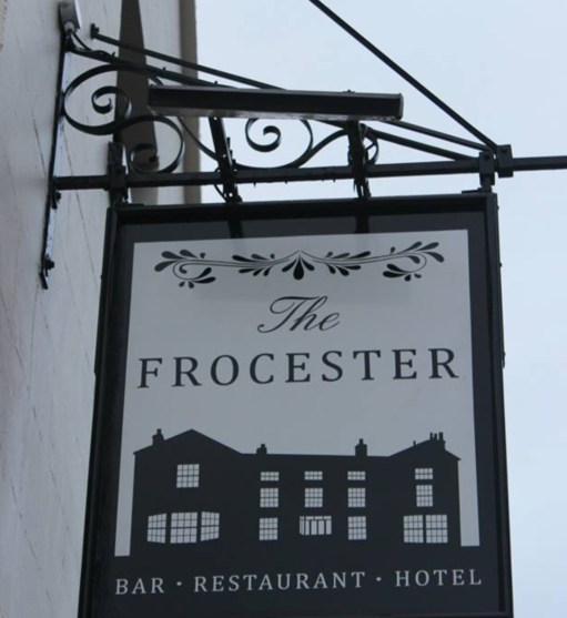 Cotswolds: The Frocester Pub Sign.