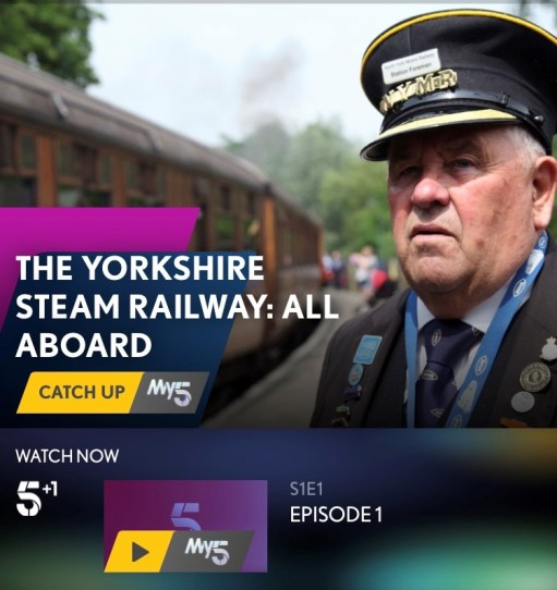 Cotswolds: The Yorkshire Steam Railway: All Aboard. Channel 5.