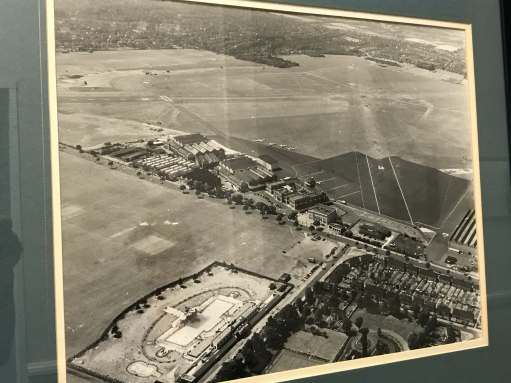 Croydon Airpot: An aerial photo of great interest. The Purley Way (A23) main road running diagonally through the middle.