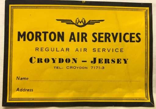 Croydon Airport: Morton Air Services.