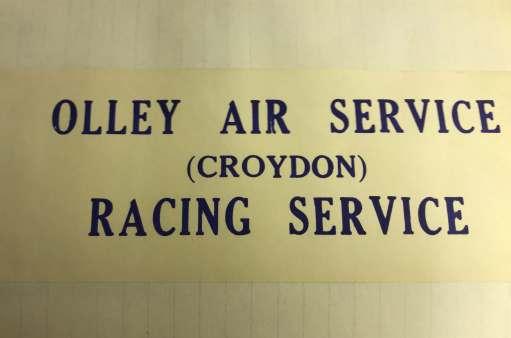 Croydon Airport: Olley Air Service - Racing Service.