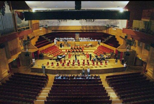 Sir Cliff Richard: Fairfield Halls, showing the choir seats behind the stage.