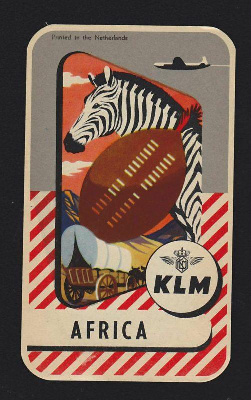 Trevor and Henry: KLM to AFrica. Netherlands