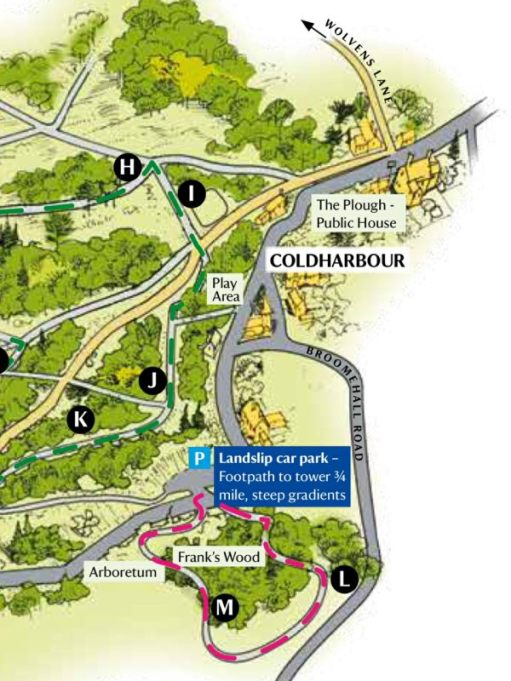 Frank's Walk: Map of Coldharbour.