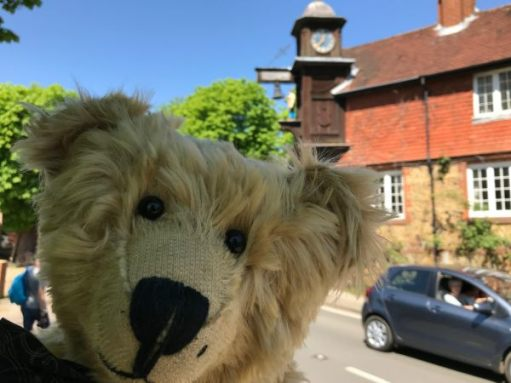"""Teddy Bears' Picnic: """"Just nipped over to see the clock for you punters!"""""""