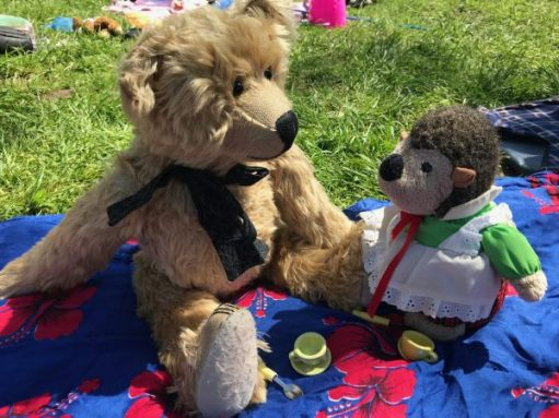 "Teddy Bears' Picnic: ""A little bear told me your name Miss Hedgehog. And I have lost it. Was it Auros?"""